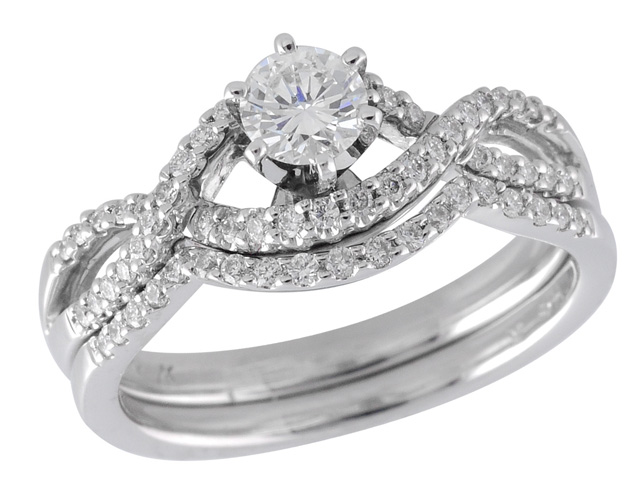 Diamond Wedding Engagement Ring by Allison Kaufman